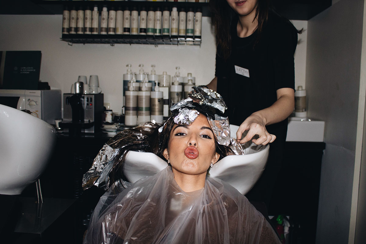 Candela Gómez - peluqueria sai tei lavado de pelo - tiger eye hair Madeincandela