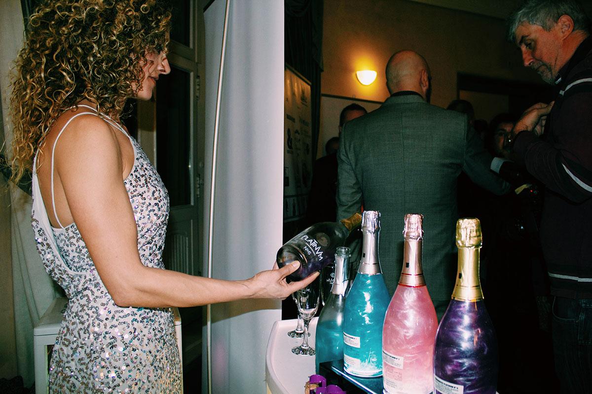 Platinvm frizante botella de colores - Madeincandela
