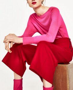 COLOR BLOCK-EL hit de la primavera 2017 Rosa y rojo