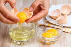 merienda con Claras de huevo