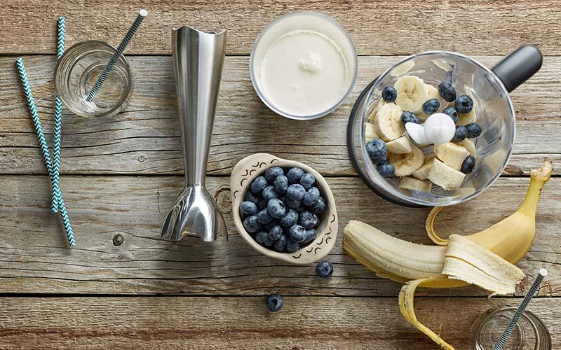 Platano y frutas
