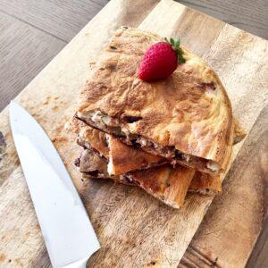 tarta de platano y frutos