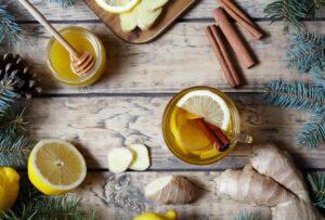 limón miel y curcoma
