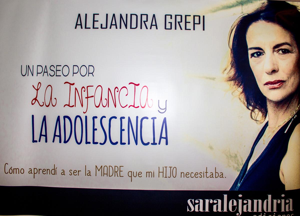 Alejandra grepi presenta su libro