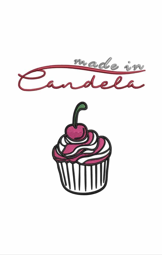 Logo cupcake madeincandela candela go