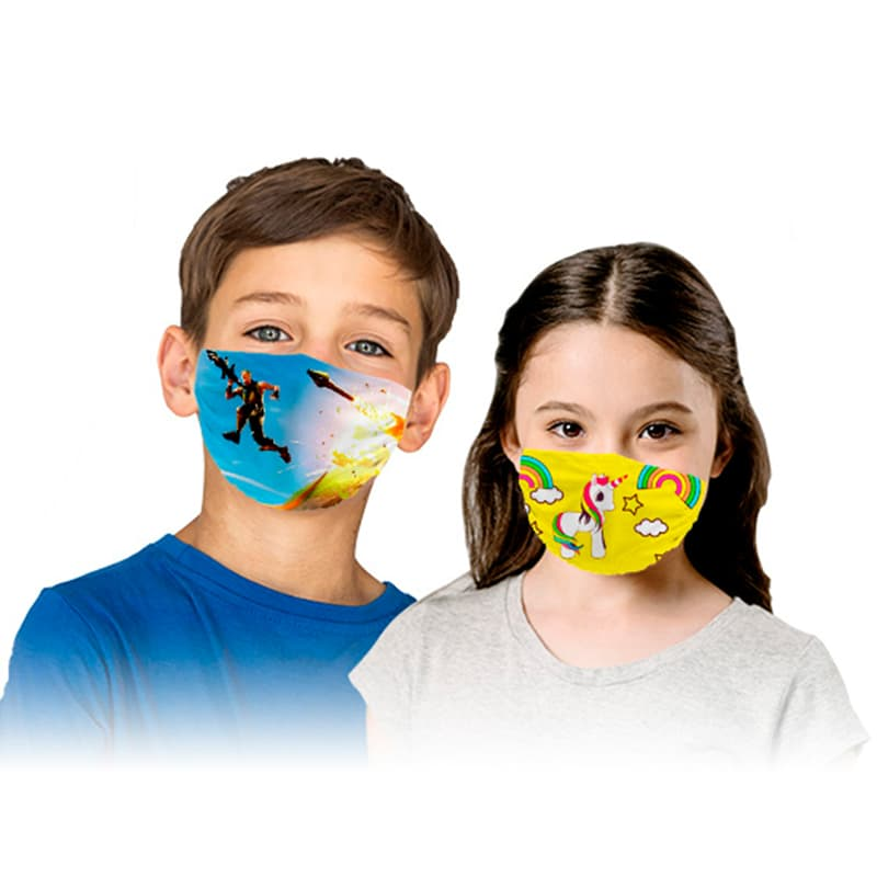 Mascarillas reutilizable niños personalizada optimizada