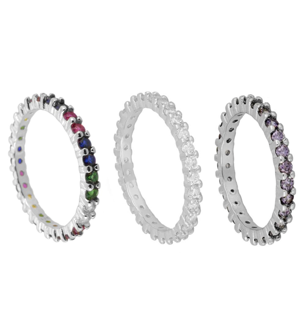 Silver queen rings