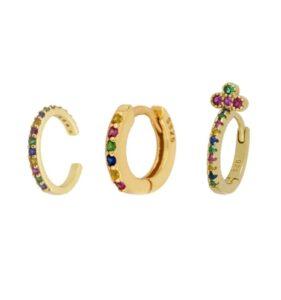 Rainbow golden earrings