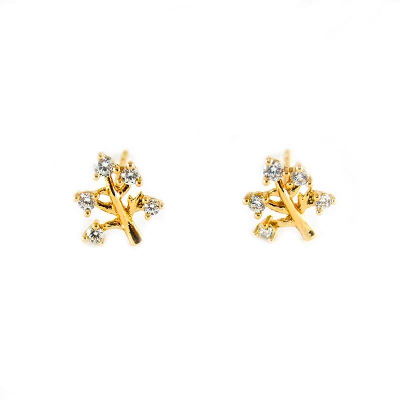 Golfi gold earrings. 1cm