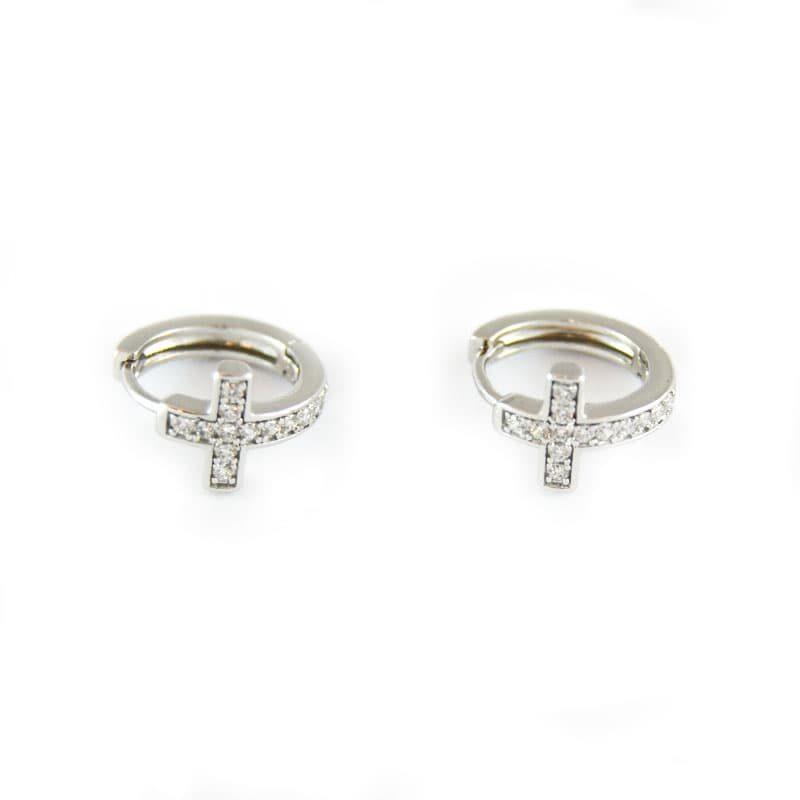 Cross rings, in golfi gold of 1cm in diameter. SAINT SILVER