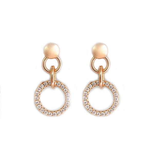 Golfi gold earrings with hanging mini hoops | TIMELESS GOLD | Madeincandela
