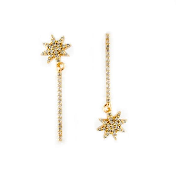 Golfi irregular gold earrings. LITTLE SUNFLOWER GOLD