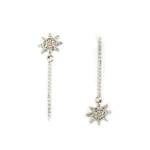 Golfi irregular gold earrings. LITTLE SUNFLOWER SILVER